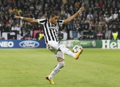 Caceres was ruled out of Wednesday's Champions League game against Sevilla.