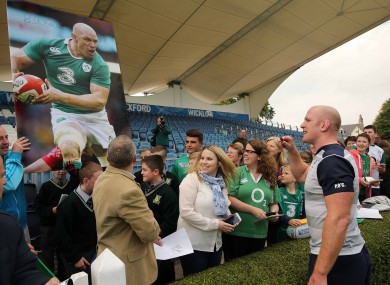Sizing it up: Paul O'Connell after training at the RDS as Ireland finish off preparations ahead of the Rugby World Cup.