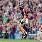 Galway did get to celebrate one All-Ireland today, as Sean Loftus jumps for joy on the final whistle in the minor game.<span class=