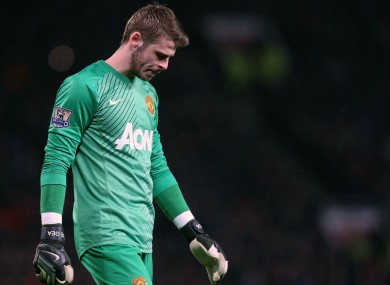 De Gea: has one year left on his current United deal.
