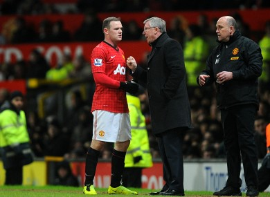 Rooney insisted he didn't hand in a transfer request.