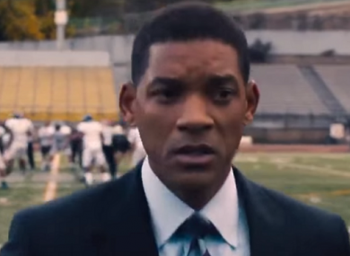 Will Smith in his role as Dr. Bennet Omalu.