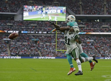 The Jets and the Dolphins played at Wembley earlier this month.