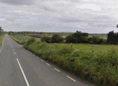 The R400 road, near Derryarkin, Co Offaly