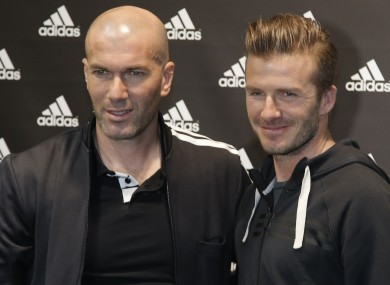 Captains Zizou and Beckham.