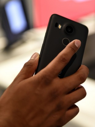 The Nexus 5X has a fingerprint scanner located at the back, which can be used to unlock your phone.