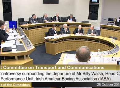 The IABA answering questions at the Transport Committee.