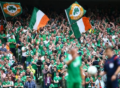 A sell-out crowd is expected at the Aviva Stadium.