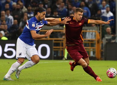 Dzeko has scored for Roma since August.