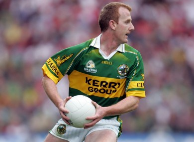 Liam Hassett in action for Kerry in 2004.