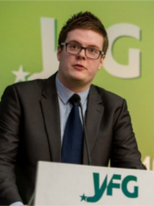 Padraig O'Sullivan was president of Young Fine Gael up until last Friday