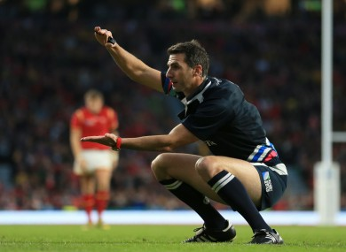 Craig Joubert is under fire following a controversial decision in yesterday's quarter-final.