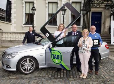 Dublin Lord Mayor Críona Ní Dhálaigh with representatives of Xpert Taxis, National Radio Cabs and VIP Taxis at the Mansion House