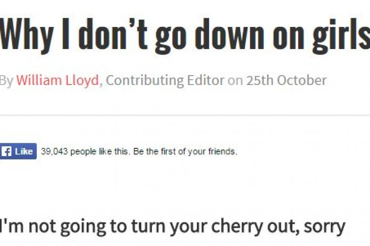 This Lads Article About Refusing To Go Down On Girls Has Caused Quite A Stir