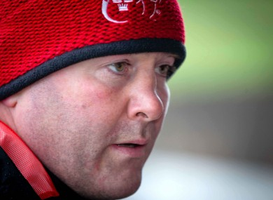 Anthony Foley after today's training session.