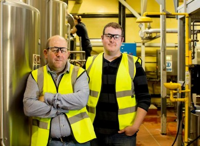 One of the finalists was a duo - here's Stephen and Brian in the pilot brewery