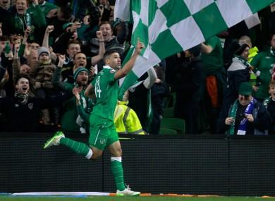 Jon Walters celebrates after scoring the opening goal.