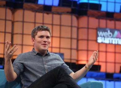 Stripe's John Collison at the Web Summit today