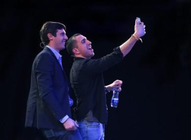 Tinder CEO Sean Rad taking a selfie at this year's Web Summit
