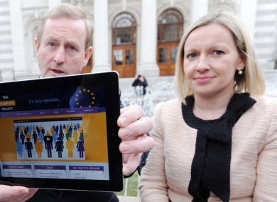 Lucinda doesn't miss awkward photo-ops like this with Enda Kenny