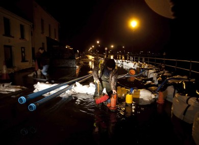 Flood defence work went on late into last night in Athlone.