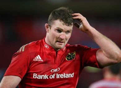 Ryan picked up the injury in Sunday's derby defeat against Leinster.