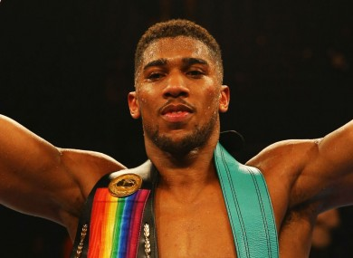 WBC International and Commonwealth heavyweight champion and British heavyweight champion Anthony Joshua.