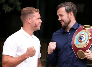 Andy Lee and Billy Joe Saunders will go head-to-head tomorrow.