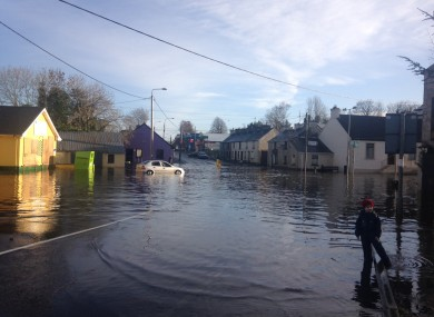 The situation in Castlefinn, Co Donegal earlier today