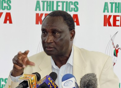 Suspended Athletics Kenya president, Isaiah Kiplagat.