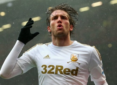 Langreo forward Michu previously played for Swansea.
