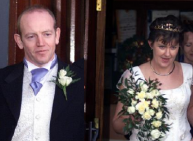 Pearse McAuley and Pauline Tulley pictured at their wedding in 2003.