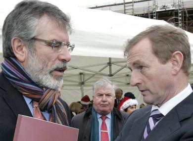 Gerry Adams and Enda Kenny (File photo)