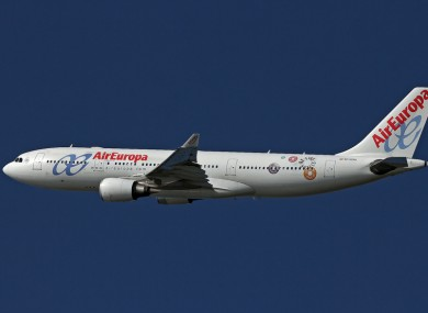 File photo of an Air Europa plane.