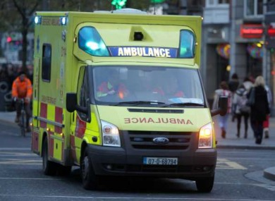 File photo of an ambulance in Dublin city