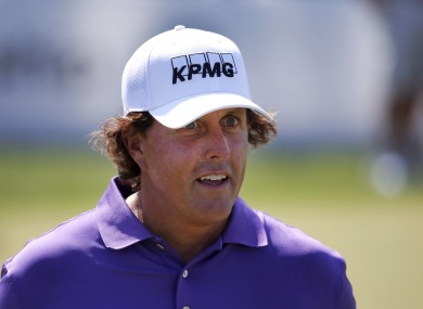 Phil Mickelson is unhappy with 17-year-old Ryan Ruffels