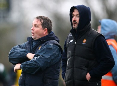 Clare management duo Davy Fitzgerald and Donal Óg Cusack saw their team win tonight.