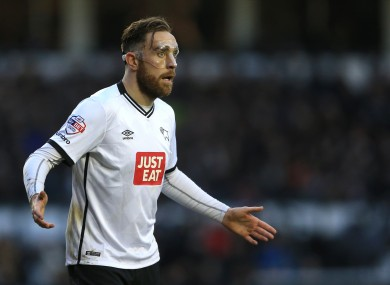 Richard Keogh is expected to be involved as Derby take on Man United.