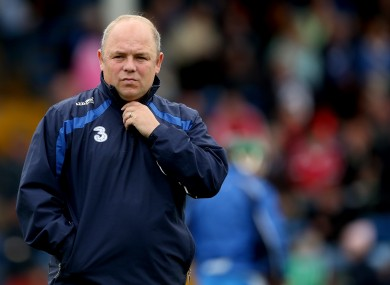 Waterford manager Derek McGrath.