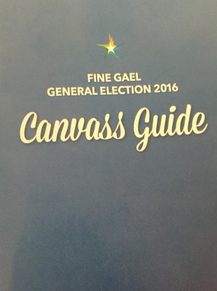 The front of the Fine Gael booklet