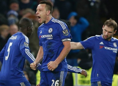 Terry scored Chelsea's last-gasp equaliser against Everton at the weekend.