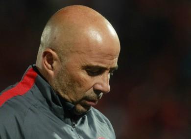 Outgoing Chile head coach Jorge Sampaoli.