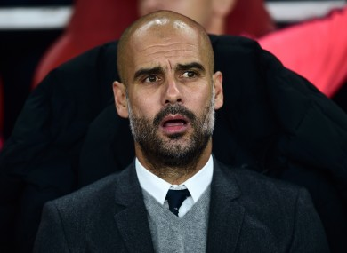 Pep Guardiola is set to depart Bayern in the summer.