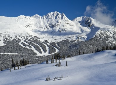File image: Blackcomb ski and snowboard Mountain view from Whistler, British Columbia, Canada.