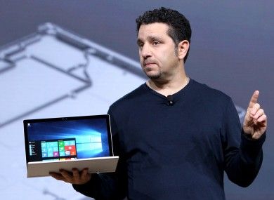 Panos Panay, the man behind Microsoft's Surface range, shows off the Surface Book at an event in October.