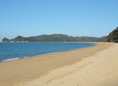 Waiharakeke Bay leading towards Awaroa Bay