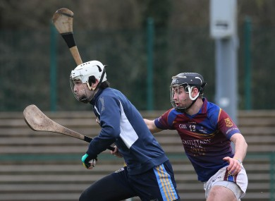 UL's John McGrath goes in to challenge UCD goalkeeper Darragh Holohan