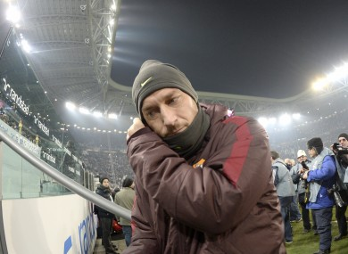 Totti says he would expect to be treated with more respect.