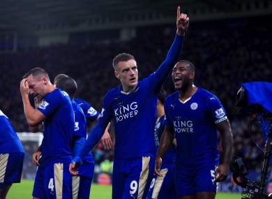 Jamie Vardy has been a revelation for Leicester this season.