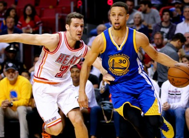 Stephen Curry of the Golden State Warriors equaled the NBA three-point record last night.